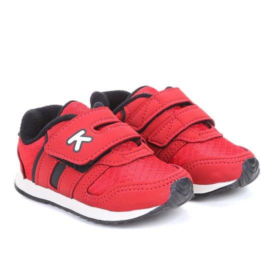 Tênis Infantil Klin Velcro Menino - Vermelho e Preto - Compre Agora ... ca2fb419a8120
