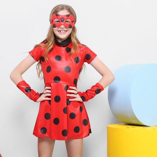 2ead7a10d Fantasia Infantil Sulamericana Ladybug Vestido Feminina Compre