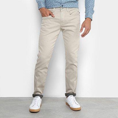 Calça De Sarja Skinny Replay Color Anbass Masculina