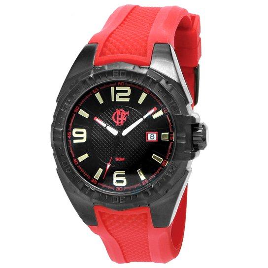 2ab7acf32b8 Relógio Flamengo Technos Analógico II - Vermelho+Preto