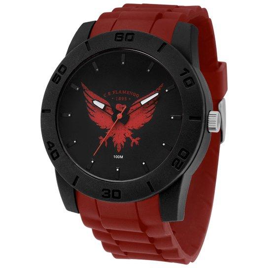 732d773f8e36e Relógio Flamengo Technos Analógico I - Vermelho e Preto - Compre ...