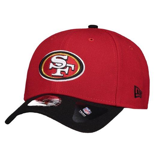 Boné San Francisco 49ers NFL New Era - Vermelho e Preto - Compre ... 12f23bc501a