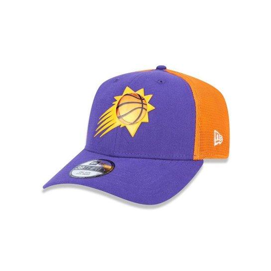 a8b221dfbde83 Bone 3930 New Era Phoenix Suns NBA Aba Curva - Roxo e Laranja ...