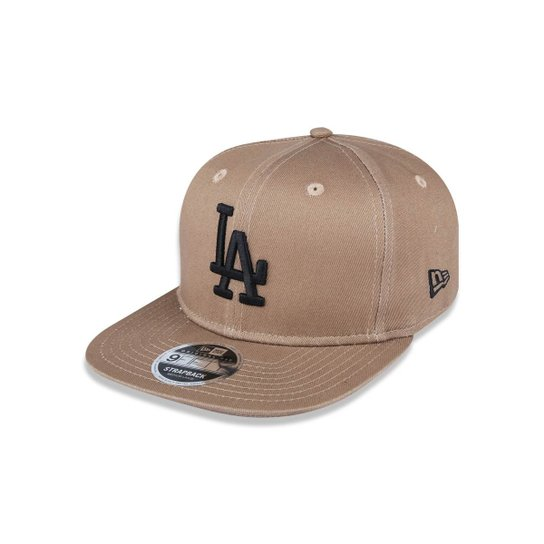 6db6c1c2220a3 Boné 950 Original Fit Los Angeles Dodgers MLB Aba Reta Snapback New Era -  Cáqui