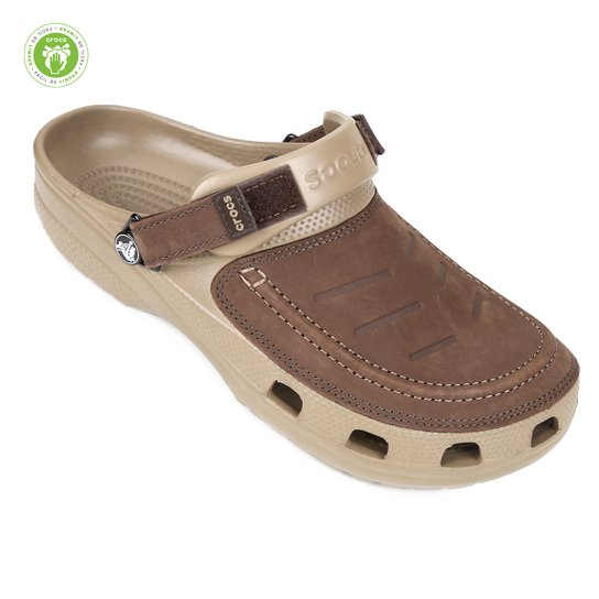 7026e702d Sandália Crocs Yukon Vista Clog Masculino - Cáqui - Compre Agora ...