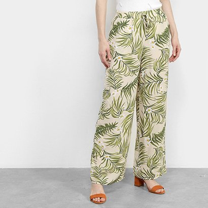 Calça Pantalona Facinelli Folhagem Feminina