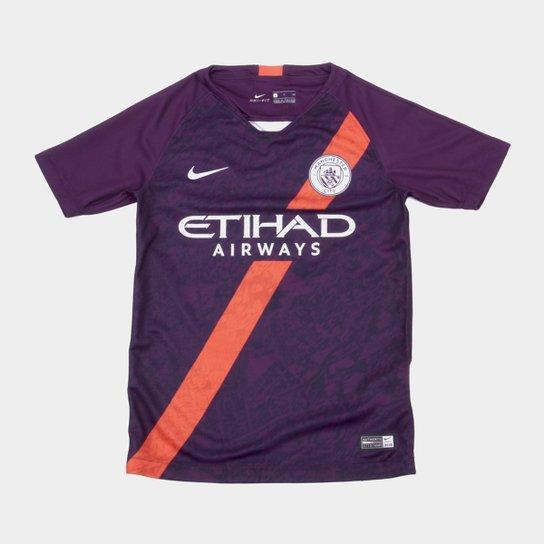 7e513c9b710b6 Camisa Manchester City Third 2018 s n° - Torcedor Nike Infantil - Roxo+