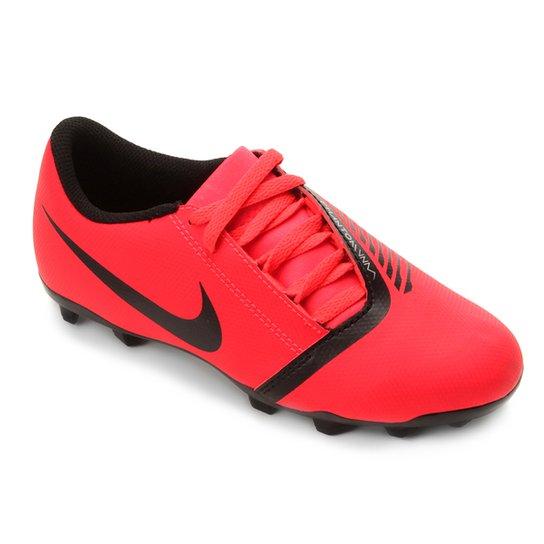 6870fa2dde9ce Chuteira Campo Infantil Nike Phantom Venom Club FG - Vermelho+Preto