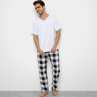 Pijama Be Cciolo Camiseta + Calça Xadrez Masculino
