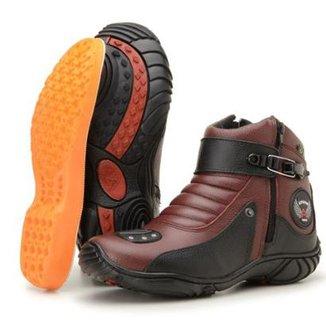 37fcd1c7ad3 Bota Atron Shoes Adventure Feminina · Confira · Coturno Motociclista Em  Couro Legítimo