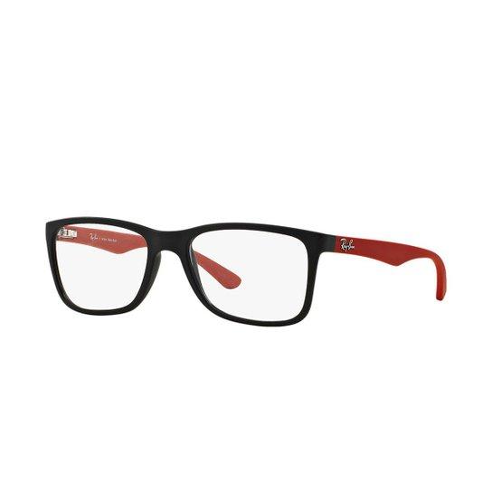 Armação de Óculos Ray-Ban RB7027L - Vermelho e Preto - Compre Agora ... b8036c29e3