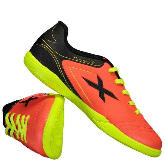 3b5125ce71 Chuteira Oxn Mundialli Futsal Infantil - Vermelho+Preto