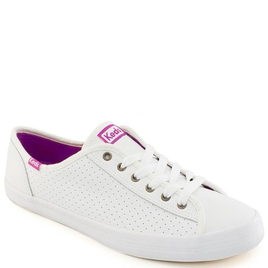 a6dc503c6 Tenis Keds Kickstart Perf Leather - Branco e Violeta - Compre Agora ...