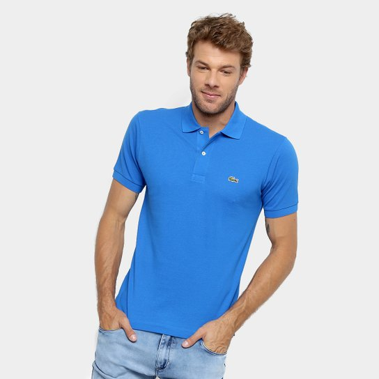 bb994cbc0d9 Camisa Polo Lacoste Original Fit Masculina - Azul Navy - Compre ...