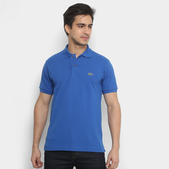 Camisa Polo Lacoste Piquet Original Fit Masculina - Azul Navy ... d9a3258fb22b6
