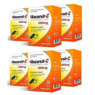 6x Ascorvit-C 1000mg (6x 30 cápsulas) - MaxiNutri