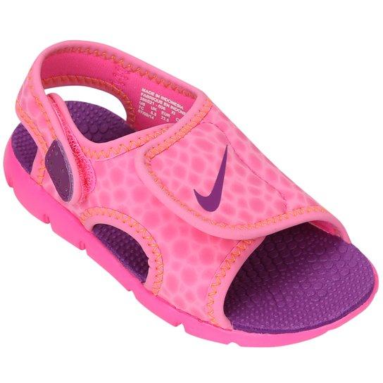 05df6d1e3 Sandália Nike Sunray Adjust 4 Infantil - Rosa e Violeta | Netshoes