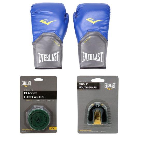 edbb81dd1 Kit Everlast Luva de Boxe Muay Thai Pro Style - 12 oz + Bandagem Elástica