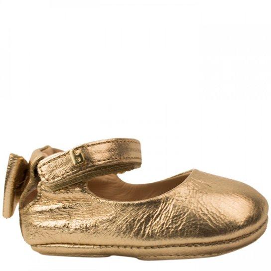 f9af016e60 Sapatilha Bebê Bibi Metalizada Afeto New VII - Dourado