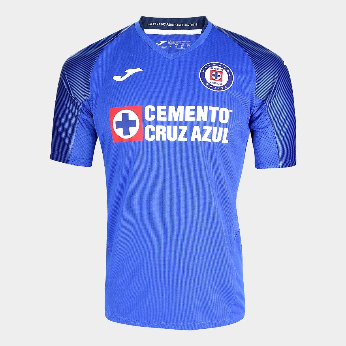 Camisa Cruz Azul Home 19/20 s/nº Torcedor Joma Masculina