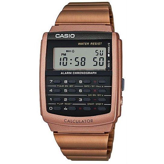 040d5bb9eff Relógio Casio Data Bank CA-506C-5ADF - Dourado - Compre Agora