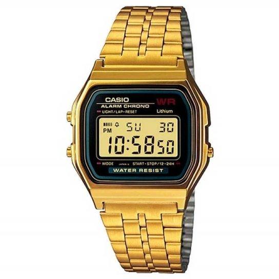 48a6b7a9336 Relógio Casio - A159Wgea-1Df - Dourado - Compre Agora