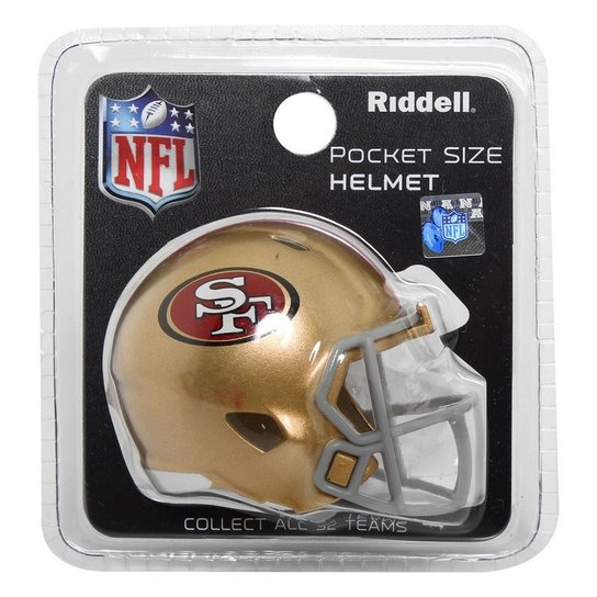 eaa930da86f62 Mini Capacete Riddell San Francisco 49ers - Compre Agora