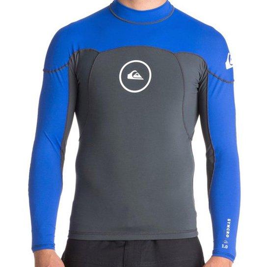 27eb0c19c65 Lycra Quiksilver Neo Shirt Ml Neos Syncro 1.0 Mm Masculina - Azul e ...