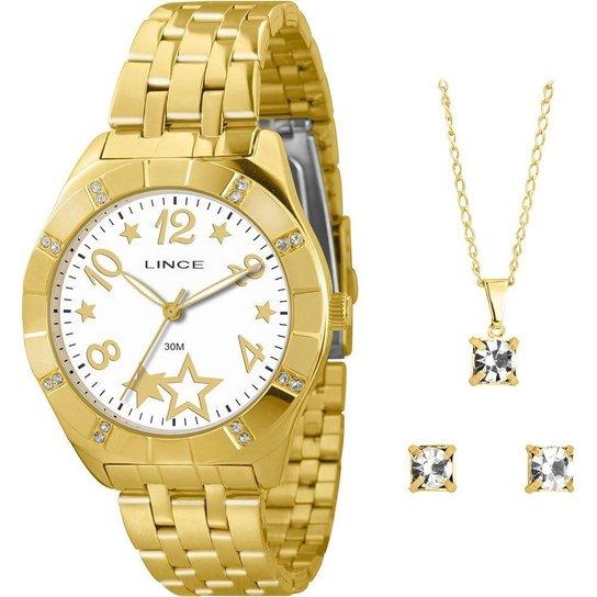 79c5f0e9c17 Kit Relógio Feminino Lince + Colar Brincos - Compre Agora