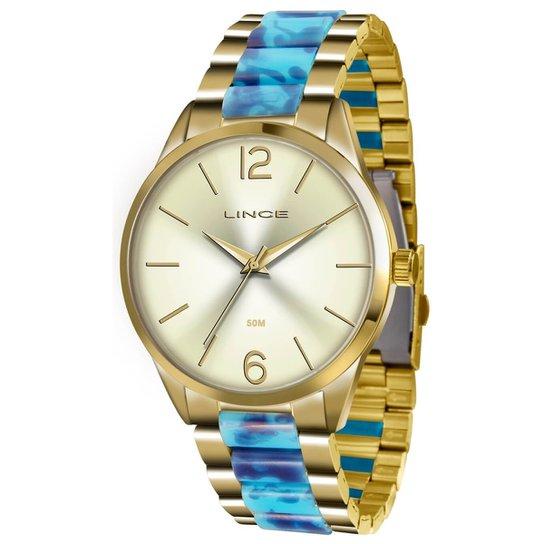 0474f978fa8 Relógio Lince Feminino LRT4443L C2KA - Dourado - Compre Agora