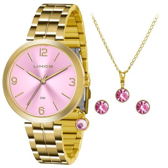 dfc93bb3b46 Relógio Lince Feminino Lrg4458L-Kt70R2Kx + Colar + Brinco - Compre ...