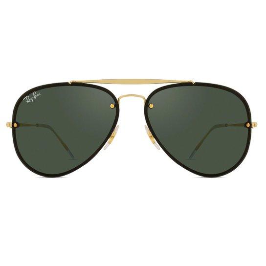 6ca36de3b Óculos de Sol Ray Ban Blaze Aviador RB3584N 9050/71-61 - Dourado ...