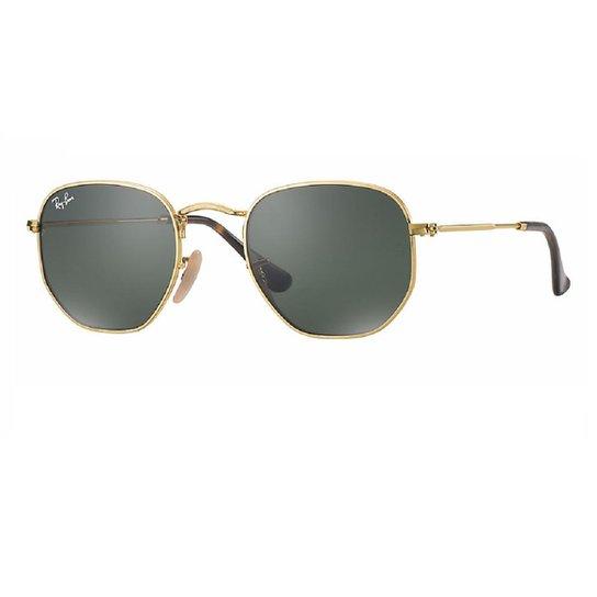 bb99dab6724a4 Óculos de Sol Ray Ban Hexagonal RB3548N 001 - Dourado - Compre Agora ...