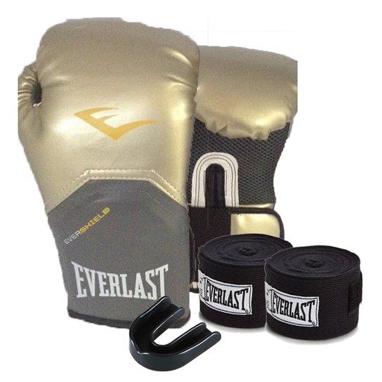 ce2a2866d Kit Boxe Elite Pro Style 10Oz Dourada Everlast - Compre Agora