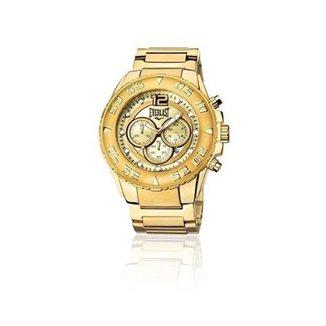 0f55ca93ae9 Relógio Everlast Cronógrafo Cx e Pulseira Aço Masculino