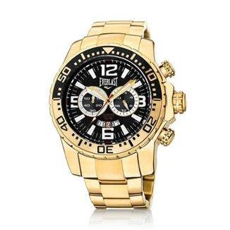 90038b7d3ca Relógio Pulso Everlast Cronógrafo Pulseira Aço E652
