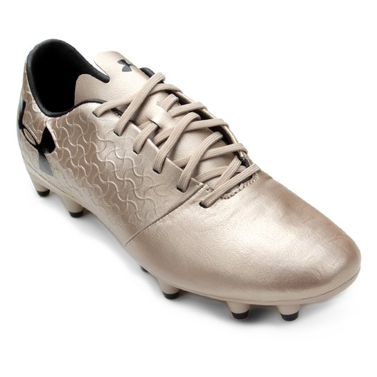 1dd1ed6300 Chuteira Campo Under Armour Select - Dourado