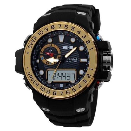 1112dbdfd14 Relógio Skmei Anadigi 1063 - Dourado - Compre Agora