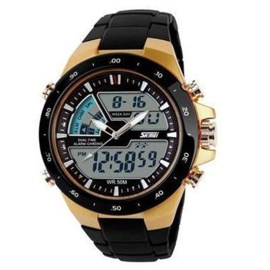 1cbca525e90 Relógio Skmei Anadigi 1016 - Dourado - Compre Agora