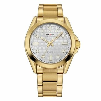 b75cc1dd643 Relógio Weide Analógico WH802 Dourado e Prata