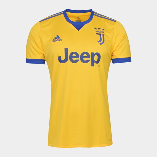 4b6713a1941cc Camisa Juventus Away 17 18 s nº Torcedor Adidas Masculina - Amarelo ...