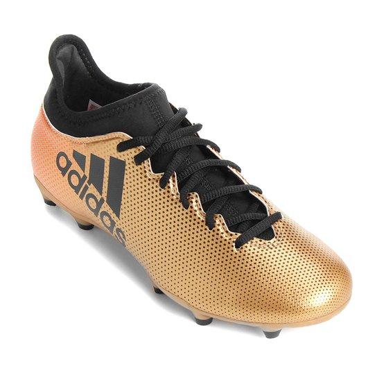 48c0427e9d787 Chuteira Campo Adidas X 17 3 FG - Dourado   Netshoes