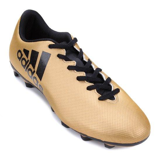 1af275e5894 Chuteira Campo Adidas X 17.4 FXG - Dourado - Compre Agora