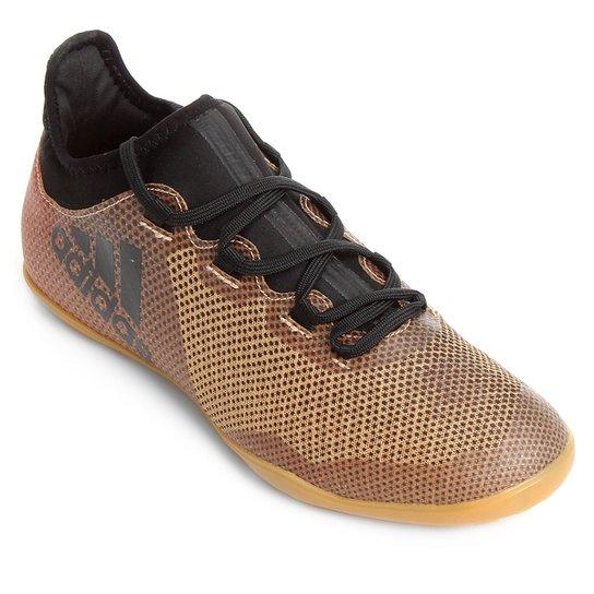 a4c0ff0096 Chuteira Futsal Adidas X 17 3 IN - Dourado