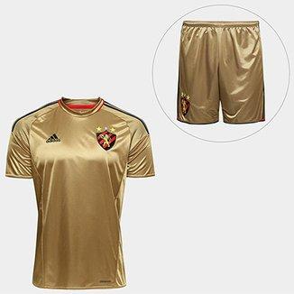 Camisa Sport Recife III 2016 s nº Torcedor Adidas + Calção Sport Recife  2016 Adidas 81dad9b670eb0
