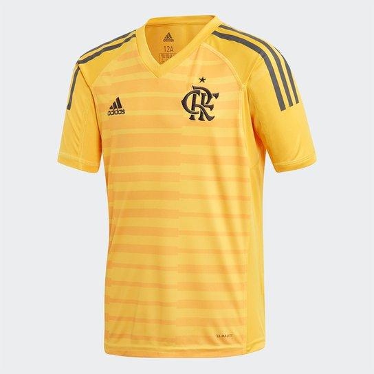 aad32663f6 Camisa de Goleiro Flamengo Infantil I 2018 s n° Torcedor Adidas - Dourado