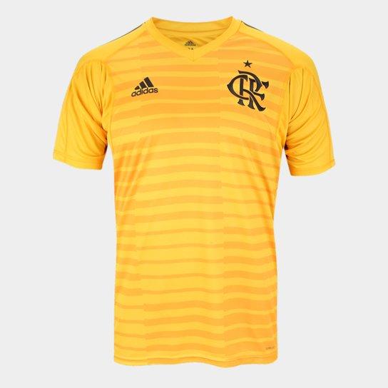946002a4a7 Camisa de Goleiro Flamengo I 2018 s n° Torcedor Adidas Masculina - Dourado