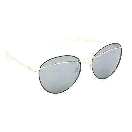 5bb1cedea Óculos Bijoulux de Sol com Lente Espelhada - Dourado | Netshoes