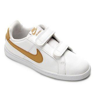 Compre Tenis Nike Branco Com Dourado Online   Netshoes eee308922b