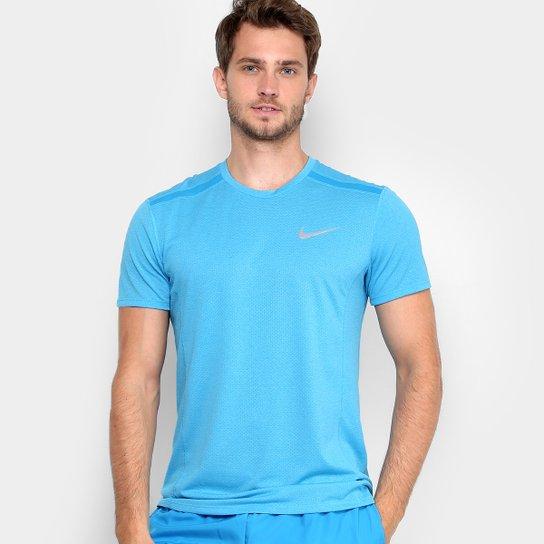 210bee5320 Camiseta Nike Dry Cool Miler SS Masculina - Azul e Cinza - Compre ...